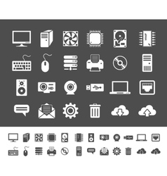 Computer and network devices vector image