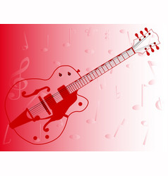 Country pickers guitar outline vector