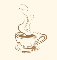 cup mug hot drink coffee tea etc vector image
