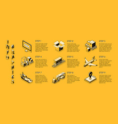 Delivery company isometric infographics vector