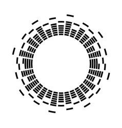 Digital sound vibrations logo audio equalizer vector