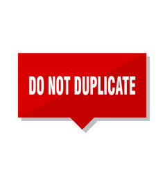 Do not duplicate red tag vector