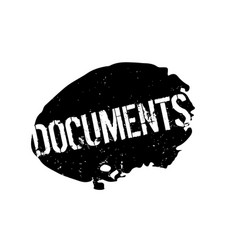 Documents rubber stamp vector