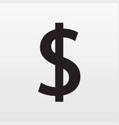 Dollar icon gray money isolated on background mo vector
