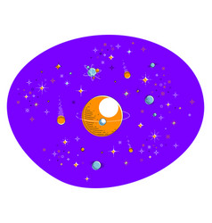 Fantastic planets in undiscovered galaxy with vector