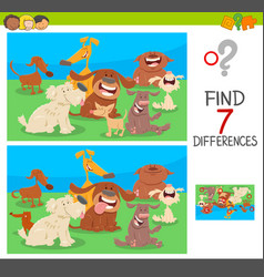 find differences game with dog characters vector image