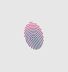 fingerprint logo design vector image