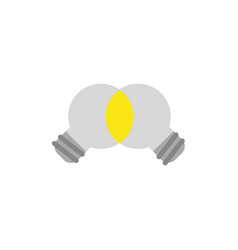 Flat design style concept of unite ideas light vector