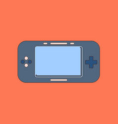 flat icon on background game console vector image