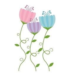 Floral cute frame decorative vector