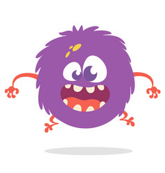 Funny cartoon monster with big mouth vector