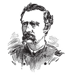 george armstrong custer vintage vector image