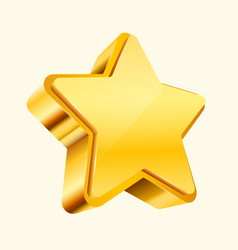 golden star isolated on white background vector image