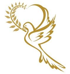 golub zlatni srce resize vector image