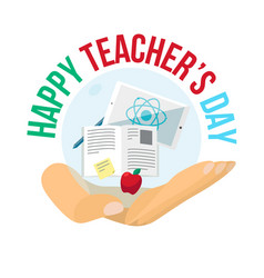 Happy teachers day celebration banner vector