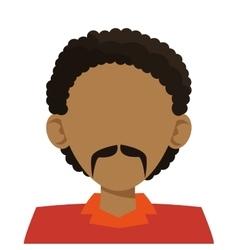 Head of man icon vector
