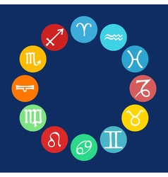 Horoscope icons set vector