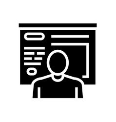 Human presentation glyph icon vector