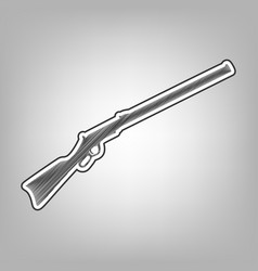 hunting rifle icon silhouette vector image