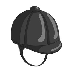 Jockey hat icon vector