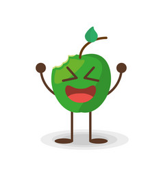 kawaii apple frui vector image