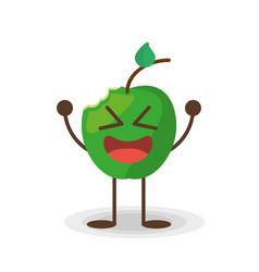 kawaii apple frui vector image