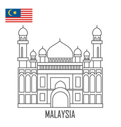 Landmark brunei malaysia the grand mosque vector