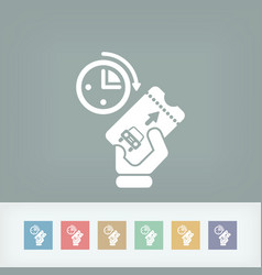 Last minute car rental vector