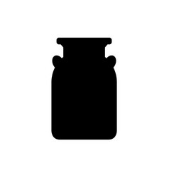 milk can icon vector image