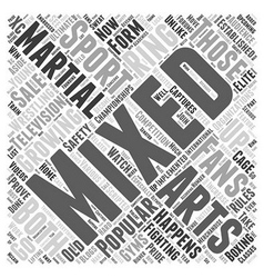 Mixed Martial Arts is Growing Word Cloud Concept vector