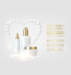 Moisturizing cosmetic products vector