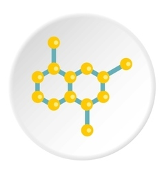 Molecule structure icon flat style vector