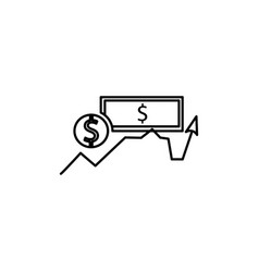 Money currency icon vector