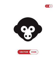monkey head icon vector image