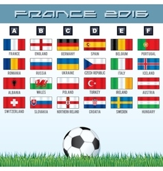 National Soccer Flags Ready for your Design vector image