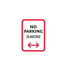 no parking to left and right roadsign isolated vector image