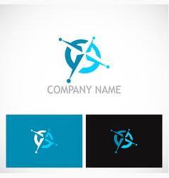 north star navigation technology logo vector image