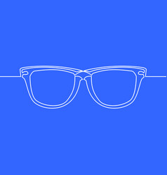 One line drawing object eye glasses concept vector