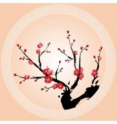 Oriental plum blossom vector