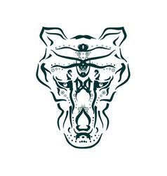 Ornamental animal tattoo vector