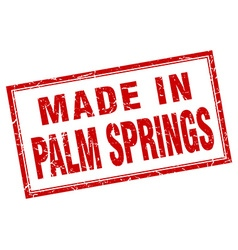 Palm springs red square grunge made in stamp vector