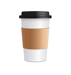 Paper coffee cup 3d realistic coffee cup vector