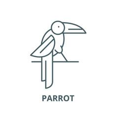 Parrot line icon linear concept outline vector