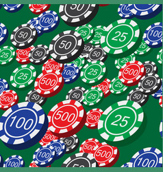 poker chips seamless pattern vector image