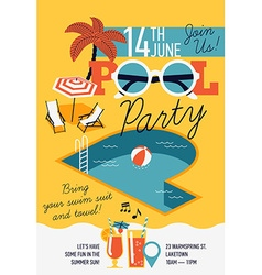 Pool Party Poster vector