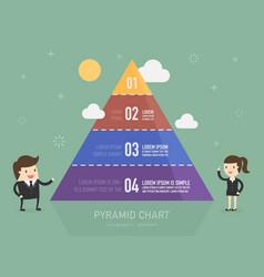 pyramid chart vector image