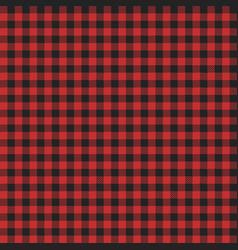 Red lumberjack pattern vector