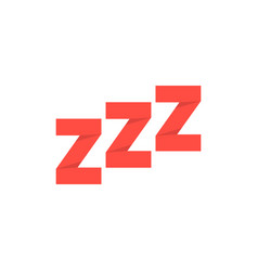 Red paper made snoring sign vector