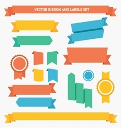 Ribbon and Labels Set vector image