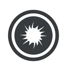 Round black starburst sign vector